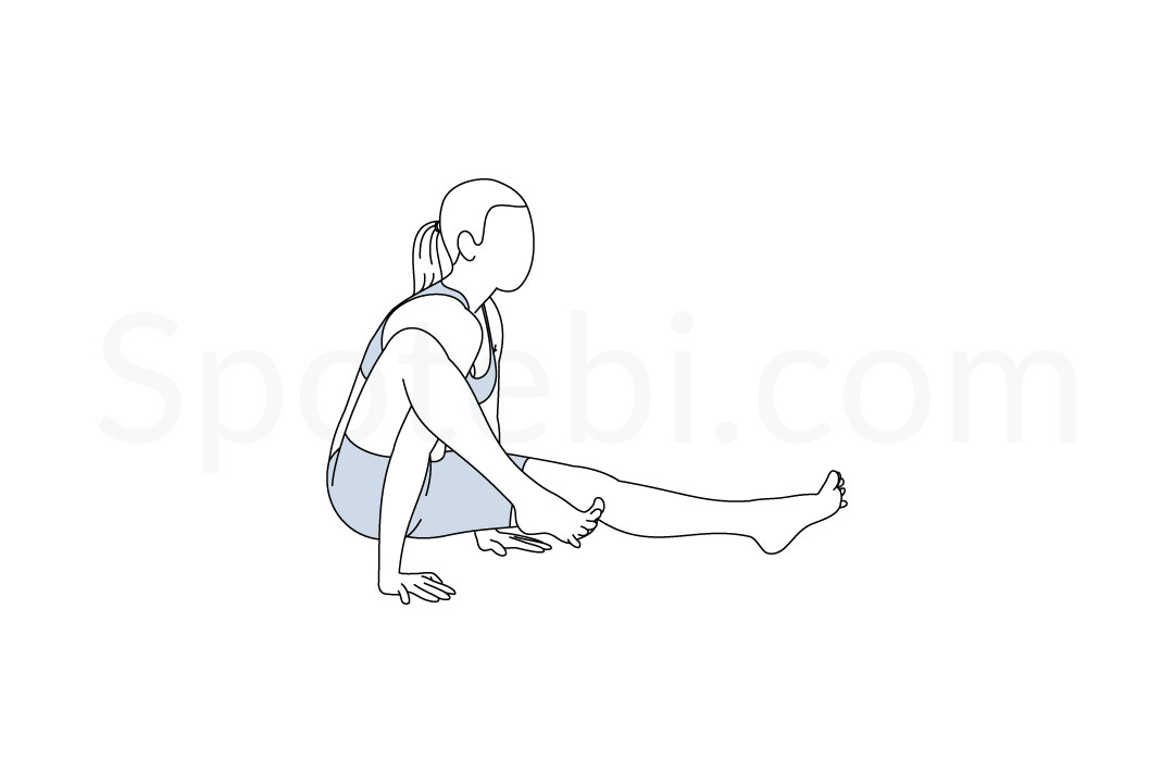 Elephant pose (Eka Hasta Bhujasana) instructions, illustration, and mindfulness practice. Learn about preparatory, complementary and follow-up poses, and discover all health benefits. https://www.spotebi.com/exercise-guide/elephant-pose/