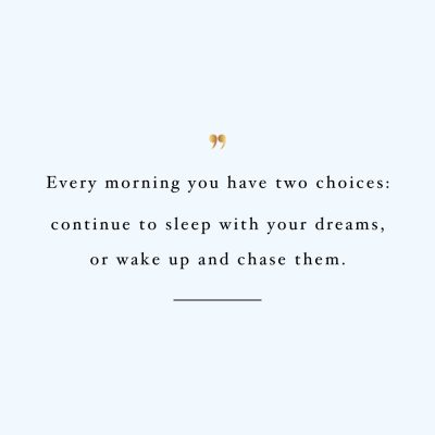 Chase Your Dreams | Motivational Fitness And Wellness Quote / @spotebi