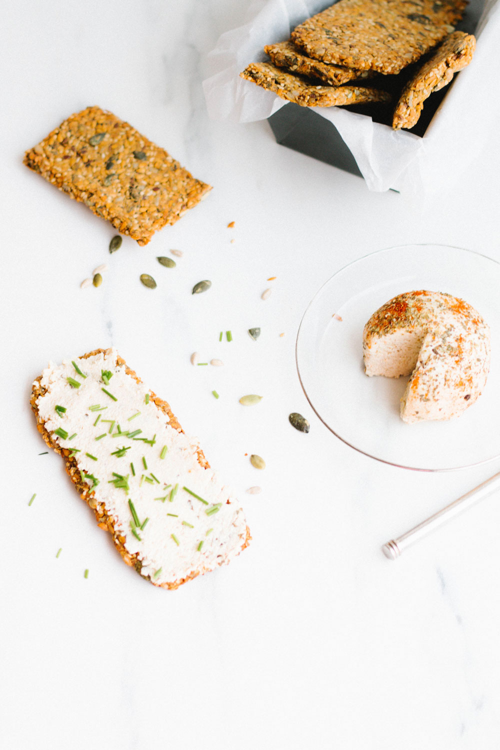 Gluten-Free Super Seed Crackers to eat with any spread, dip or cheese, or crumbled and sprinkled on top of soups, salads, and breakfast cereal!