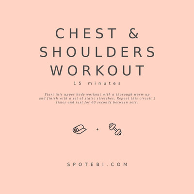 Chest, Shoulders & Triceps Workout | Workout Videos