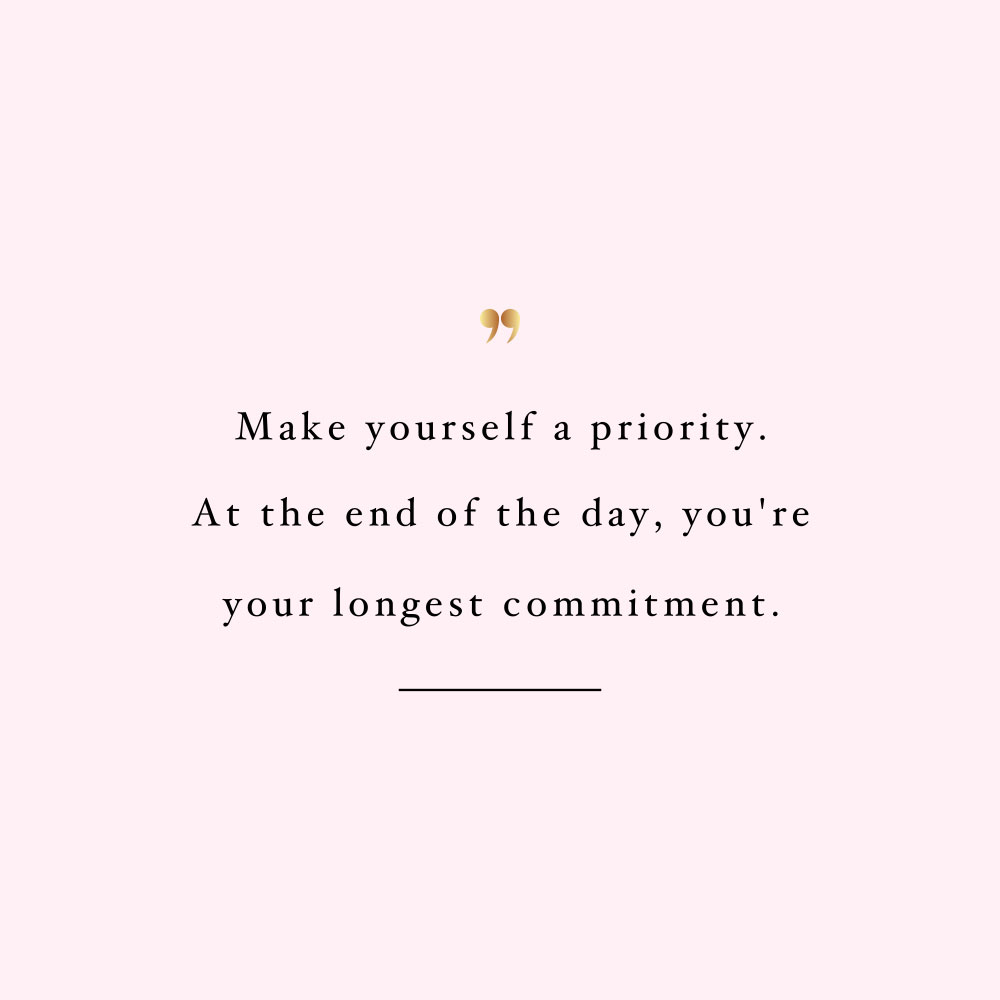 Make yourself a priority! Browse our collection of inspirational fitness and wellness quotes and get instant self-love and healthy lifestyle motivation. Stay focused and get fit, healthy and happy! https://www.spotebi.com/workout-motivation/make-yourself-a-priority/