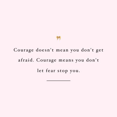 Don't Let Fear Stop You | Health And Wellness Quote / @spotebi