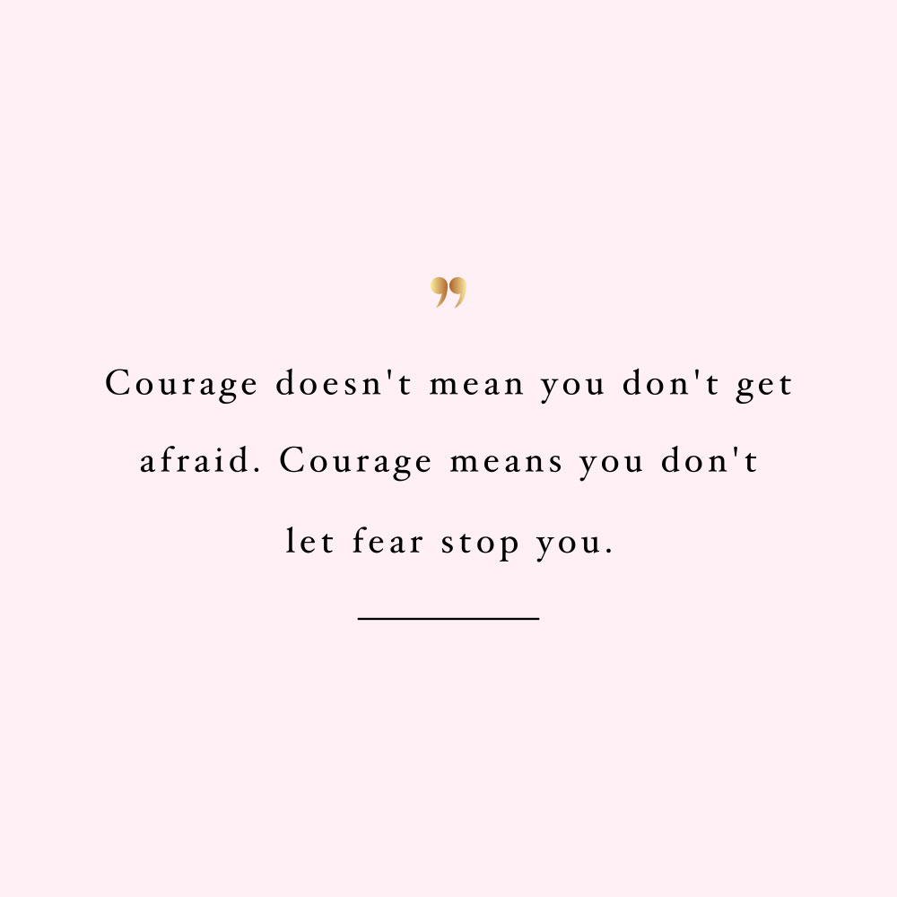 Don't let fear stop you! Browse our collection of inspirational health and wellness quotes and get instant training and healthy eating motivation. Stay focused and get fit, healthy and happy! https://www.spotebi.com/workout-motivation/dont-let-fear-stop-you/