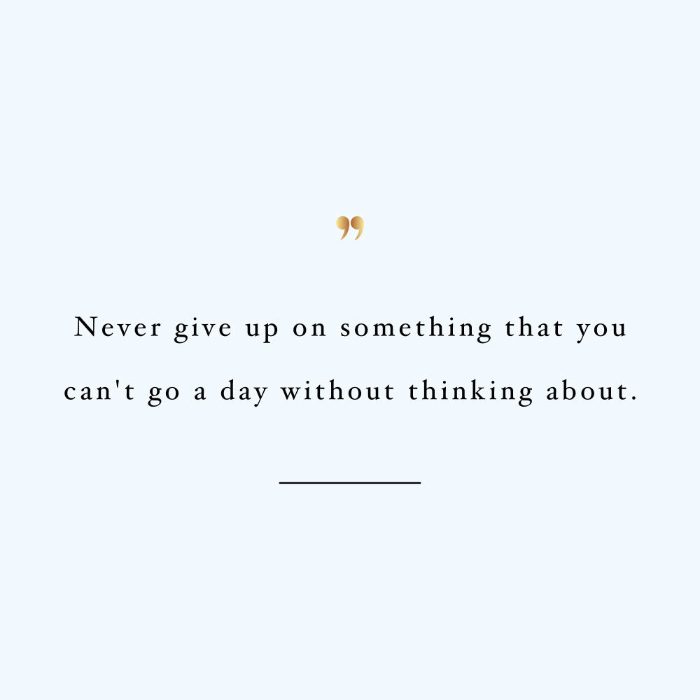 Never give up! Browse our collection of motivational health and wellness quotes and get instant training and healthy eating inspiration. Stay focused and get fit, healthy and happy. https://www.spotebi.com/workout-motivation/never-give-up-on-something/