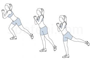 Single leg squat kickback exercise guide with instructions, demonstration, calories burned and muscles worked. Learn proper form, discover all health benefits and choose a workout. https://www.spotebi.com/exercise-guide/single-leg-squat-kickback/