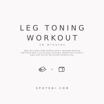 16-Minute Leg Toning Workout | Workout Videos