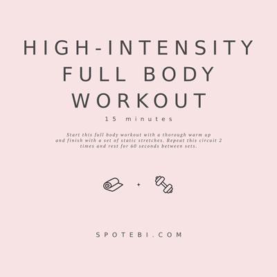 High-Intensity Full Body Workout | Workout Videos
