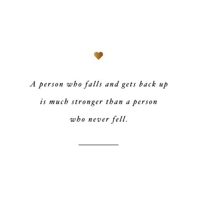 Falling Makes You Stronger | Motivational Health And Wellness Quote / @spotebi