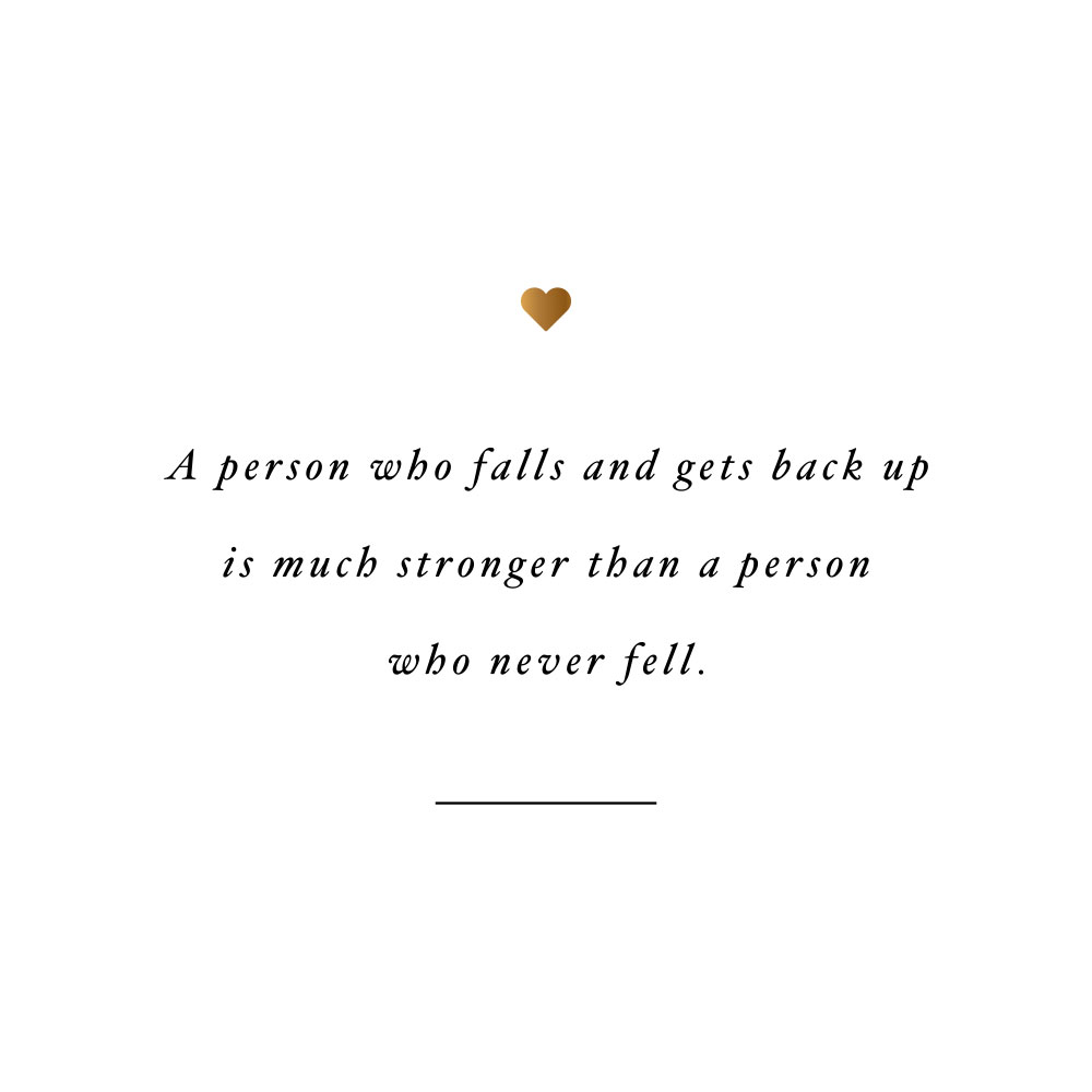Falling makes you stronger! Browse our collection of motivational health and wellness quotes and get instant training and healthy eating inspiration. Stay focused and get fit, healthy and happy! https://www.spotebi.com/workout-motivation/falling-makes-you-stronger/