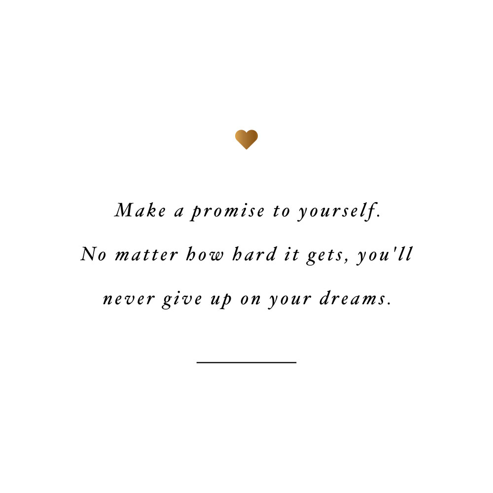 Never give up on your dreams! Browse our collection of inspirational fitness and healthy lifestyle quotes and get instant health and wellness motivation. Stay focused and get fit, healthy and happy! https://www.spotebi.com/workout-motivation/never-give-up-on-your-dreams/