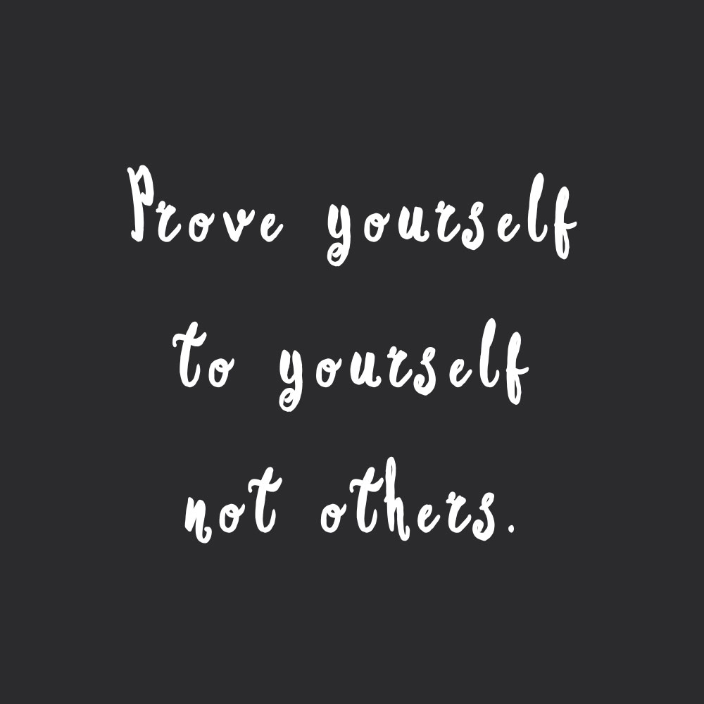 Prove yourself to yourself! Browse our collection of inspirational wellness and healthy lifestyle quotes and get instant health and fitness motivation. Stay focused and get fit, healthy and happy! https://www.spotebi.com/workout-motivation/prove-yourself-to-yourself/