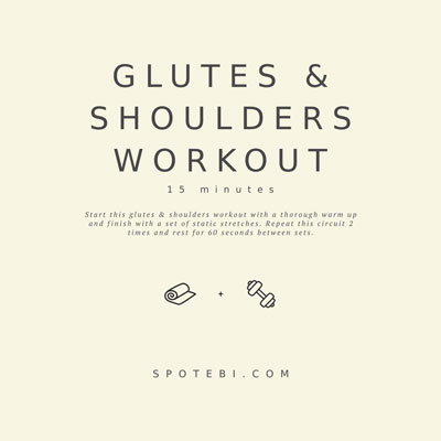 15-Minute Glutes and Shoulders Workout for Women | Workout Videos
