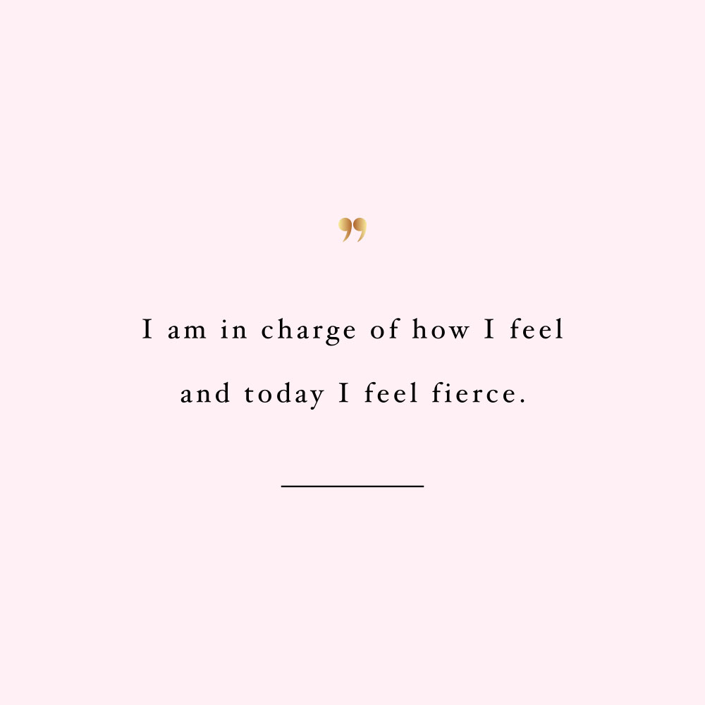 Today I feel fierce! Browse our collection of inspirational wellness and healthy lifestyle quotes and get instant health and fitness motivation. Stay focused and get fit, healthy and happy! https://www.spotebi.com/workout-motivation/today-i-feel-fierce/
