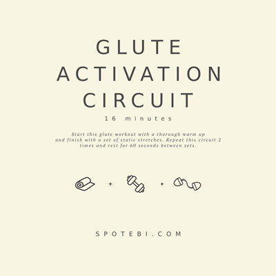 16-Minute Glute Activation Circuit | Workout Videos