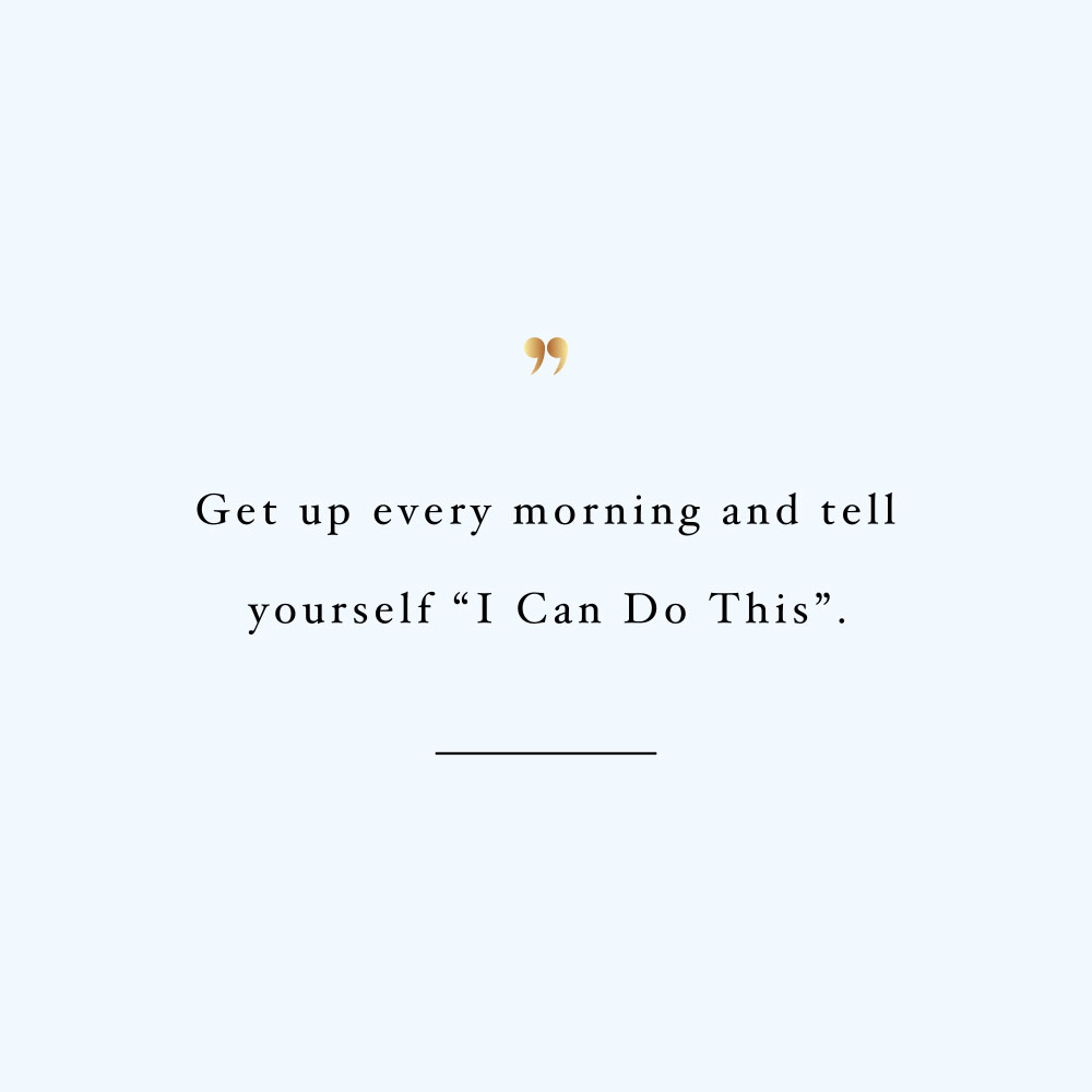 I can do this! Browse our collection of inspirational self-love and exercise quotes and get instant fitness and healthy lifestyle motivation. Stay focused and get fit, healthy and happy! https://www.spotebi.com/workout-motivation/i-can-do-this/