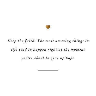 Keep The Faith | Self-Love And Exercise Inspiration / @spotebi