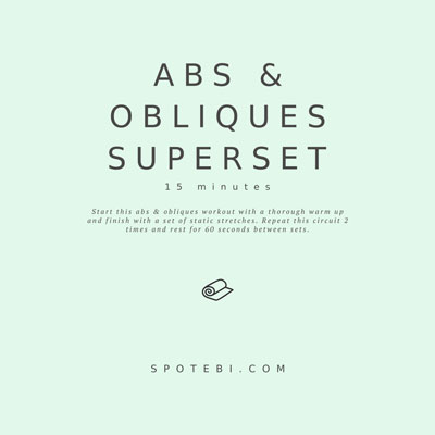 15-Minute Abs & Obliques Superset | Workout Videos