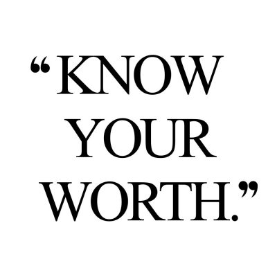 Know Your Worth | Inspirational Wellness And Wellbeing Quote / @spotebi