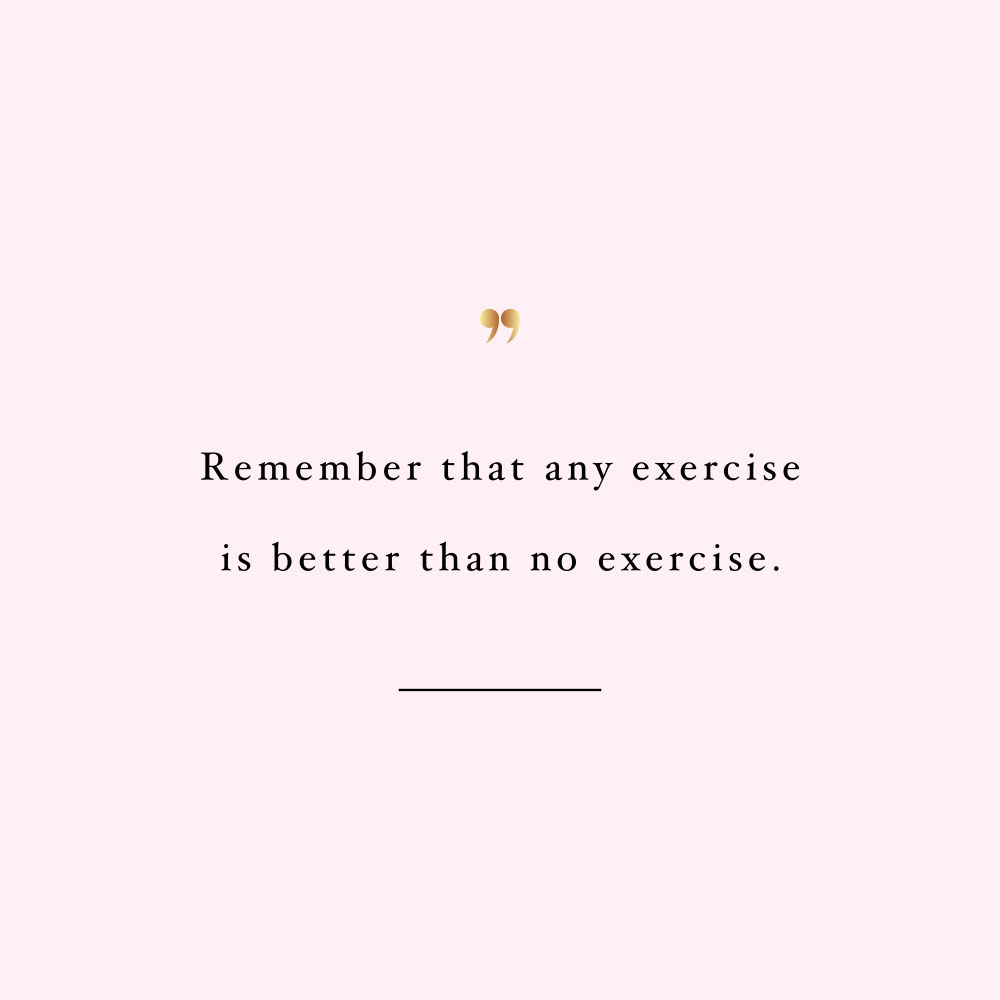 Anything is better than no exercise! Browse our collection of motivational wellness and wellbeing quotes and get instant self-love and fitness inspiration. Stay focused and get fit, healthy and happy! https://www.spotebi.com/workout-motivation/anything-is-better-than-no-exercise/