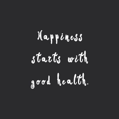 Happiness Starts With Good Health | Fitness And Training Inspiration / @spotebi