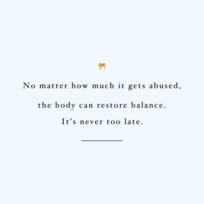 It's Never Too Late | Healthy Eating Motivation Quote / @spotebi