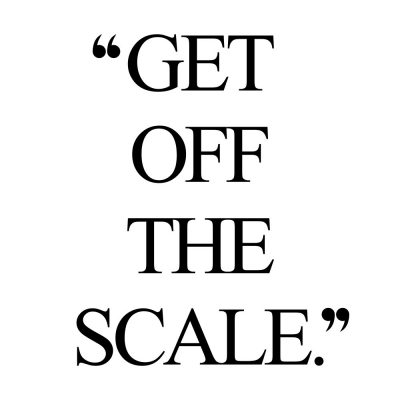 Get Off The Scale | Wellness And Self-Love Motivation / @spotebi