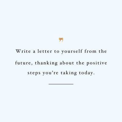 Letter To Yourself | Wellness And Self-Love Quote / @spotebi