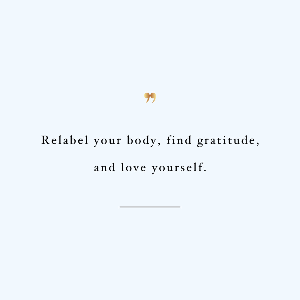 Relabel your body! Browse our collection of motivational health and wellness quotes and get instant fitness and training inspiration. Stay focused and get fit, healthy and happy! https://www.spotebi.com/workout-motivation/relabel-your-body/