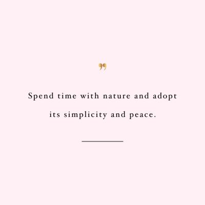 Spend Time With Nature | Motivational Fitness And Training Quote / @spotebi