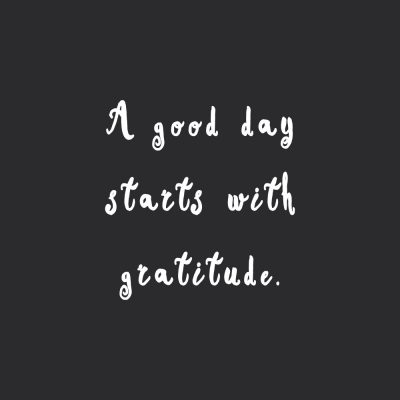 Start With Gratitude | Fitness And Training Motivational Quote / @spotebi
