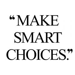 Make Smart Choices | Inspirational Wellness And Self-Love Quote / @spotebi