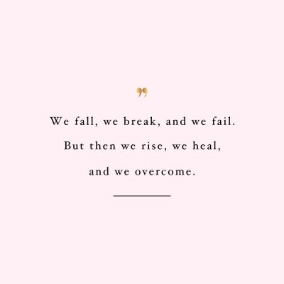 Rise, Heal And Overcome | Wellness And Self-Love Inspiration Quote / @spotebi