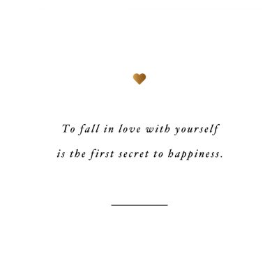 Fall In Love With Yourself Secret | Fitness And Self-Care Motivational Quote / @spotebi