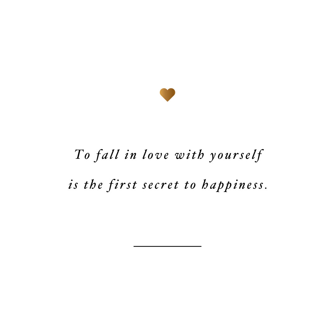 Fall in love with yourself! Browse our collection of motivational fitness and self-care quotes and get instant health and wellness inspiration. Stay focused and get fit, healthy and happy! https://www.spotebi.com/workout-motivation/fall-in-love-with-yourself-secret/