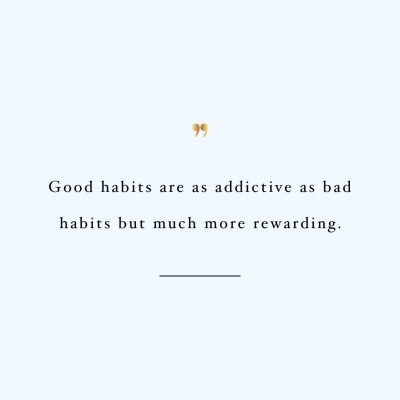 Addicted To Good Habits | Exercise And Healthy Lifestyle Inspiration / @spotebi