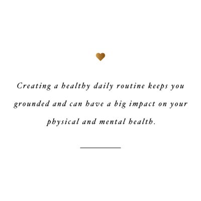 Healthy Daily Routine | Wellness And Exercise Inspiration Quote / @spotebi