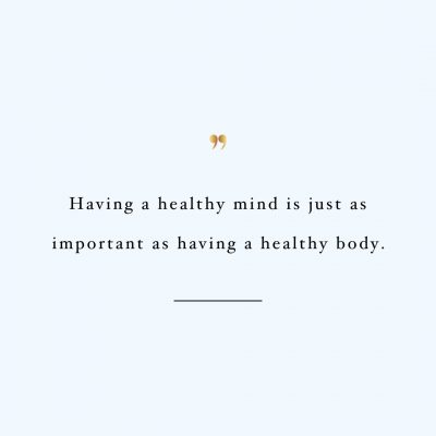 Healthy Mind Healthy Body | Exercise And Healthy Lifestyle Inspirational Quote / @spotebi