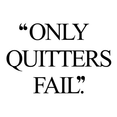 Only Quitters Fail | Exercise And Healthy Lifestyle Quote / @spotebi