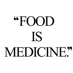 Food Is Medicine | Exercise And Healthy Lifestyle Inspiration Quote / @spotebi