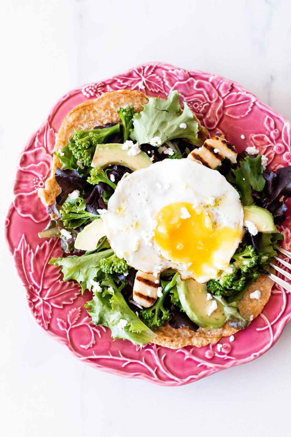 Oats aren't just for breakfast anymore. These Oat Pancakes with Green Salad, Fried Halloumi, and Egg can be eaten at any time of the day. https://www.spotebi.com/recipes/oat-pancakes-green-salad-fried-halloumi-egg/