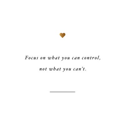 Focus On What You Can Control | Fitness And Health Motivational Quote / @spotebi