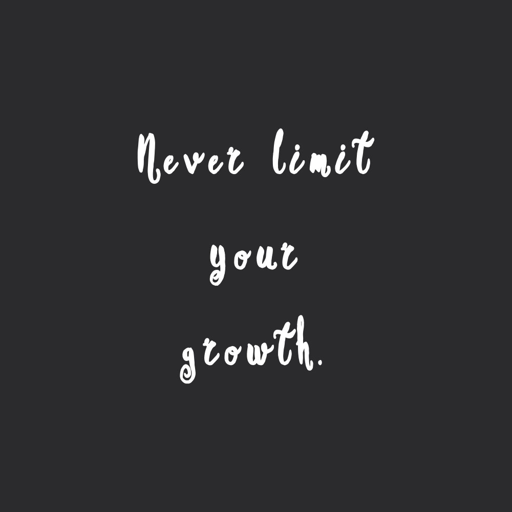 Never limit your growth! Browse our collection of inspirational fitness and health quotes and get instant exercise and self-care motivation. Stay focused and get fit, healthy and happy! https://www.spotebi.com/workout-motivation/never-limit-your-growth/