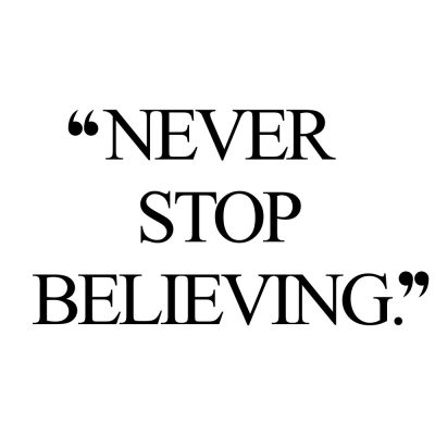 Never Stop Believing | Fitness And Exercise Inspiration / @spotebi