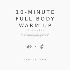 10 Minute No Equipment Full Body Warm Up / @spotebi