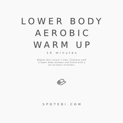 At Home No Equipment Lower Body Warm Up Exercises / @spotebi