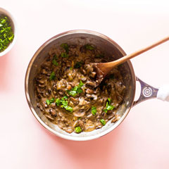 Creamy Mushroom Sauce Recipe / @spotebi
