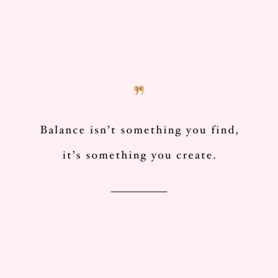 Create Balance | Inspirational Fitness And Exercise Quote / @spotebi