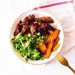 Honey-Soy Caramelized Pork Bowl Recipe / @spotebi