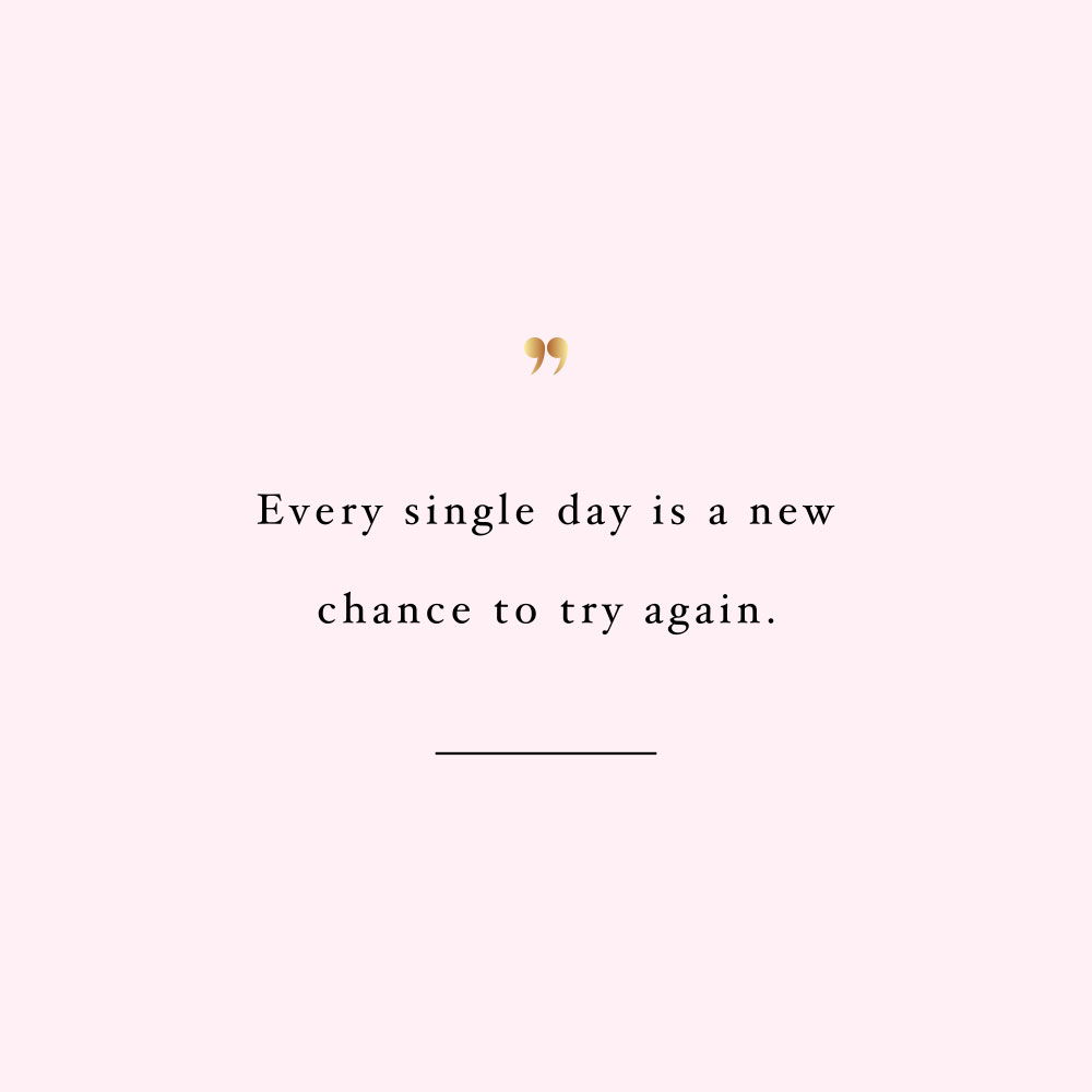 New Chance Every Day | Fitness And Wellbeing Motivation / @spotebi