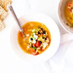 Rustic Vegetable & Seafood Soup Recipe / @spotebi